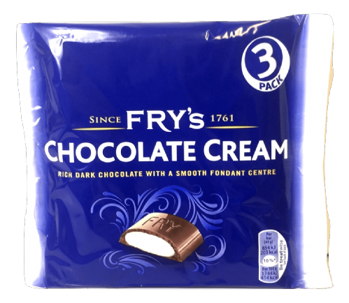 FRY'S CHOCOLATE CREAM 3PKx18 BARS
